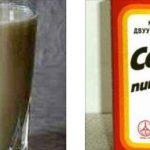 Молоко с содой, пищевая сода.