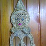 Плетение макраме. Панно «Кукла».