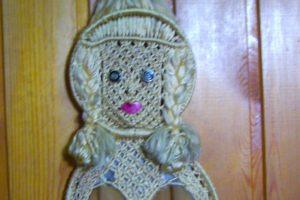"""Плетение макраме. Панно """"Кукла""""."""